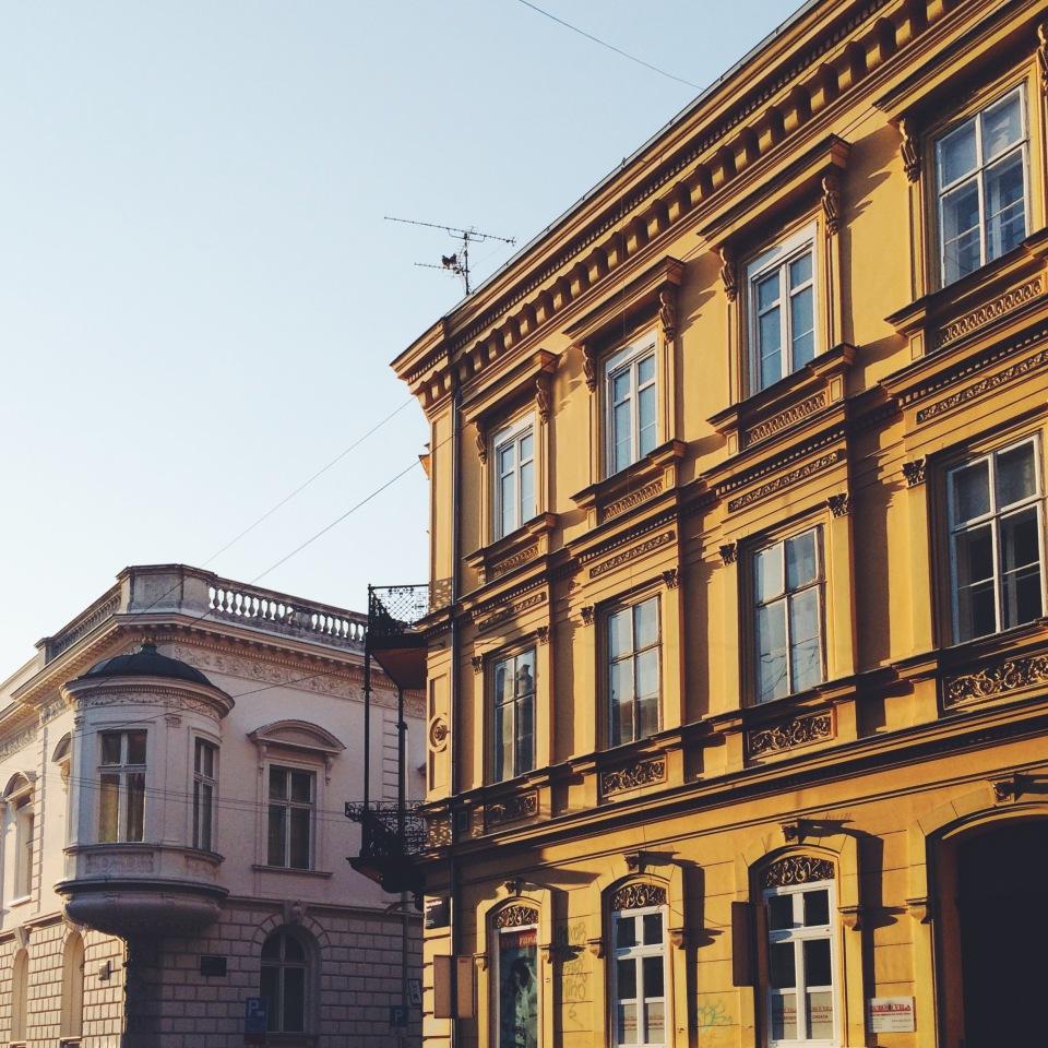 city center of Zagreb, Croatia